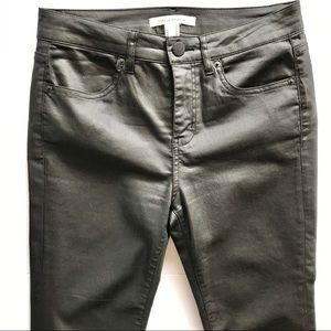 Coated cotton pants